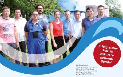 Auszubildende starten ins Berufslebenbei den Verbandsgemeindewerken Sprendlingen-Gensingen AöR