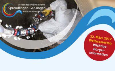 Weltwassertag – Veranstaltung am 30. März in Sprendlingen