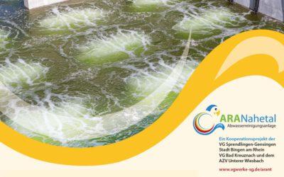Im Belebungsbecken der Abwasserreinigungsanlage ARANahetal wurden die eingebauten Membran-Belüfterplatten mit Erfolg getestet